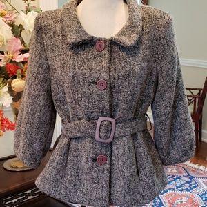 Fabulous Belted Tweed Blazer sz Small NWT